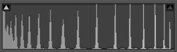 Histogram of default stepwedge