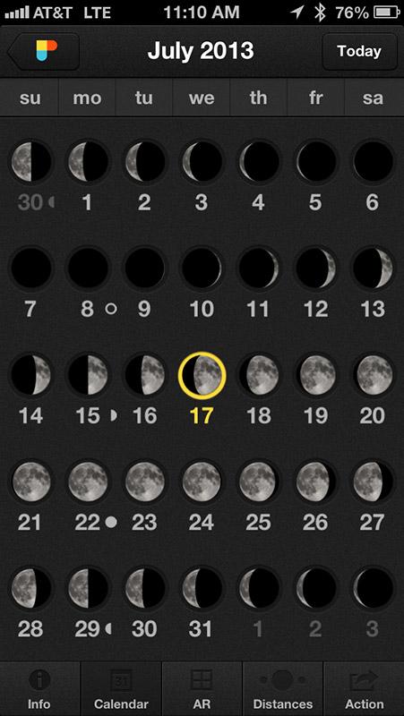 Calendar moon