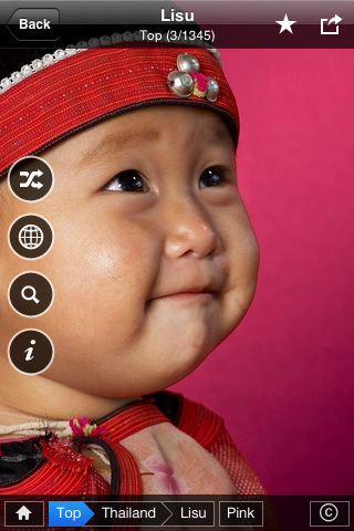 Lisu child from Thailand in Memory of Colors app