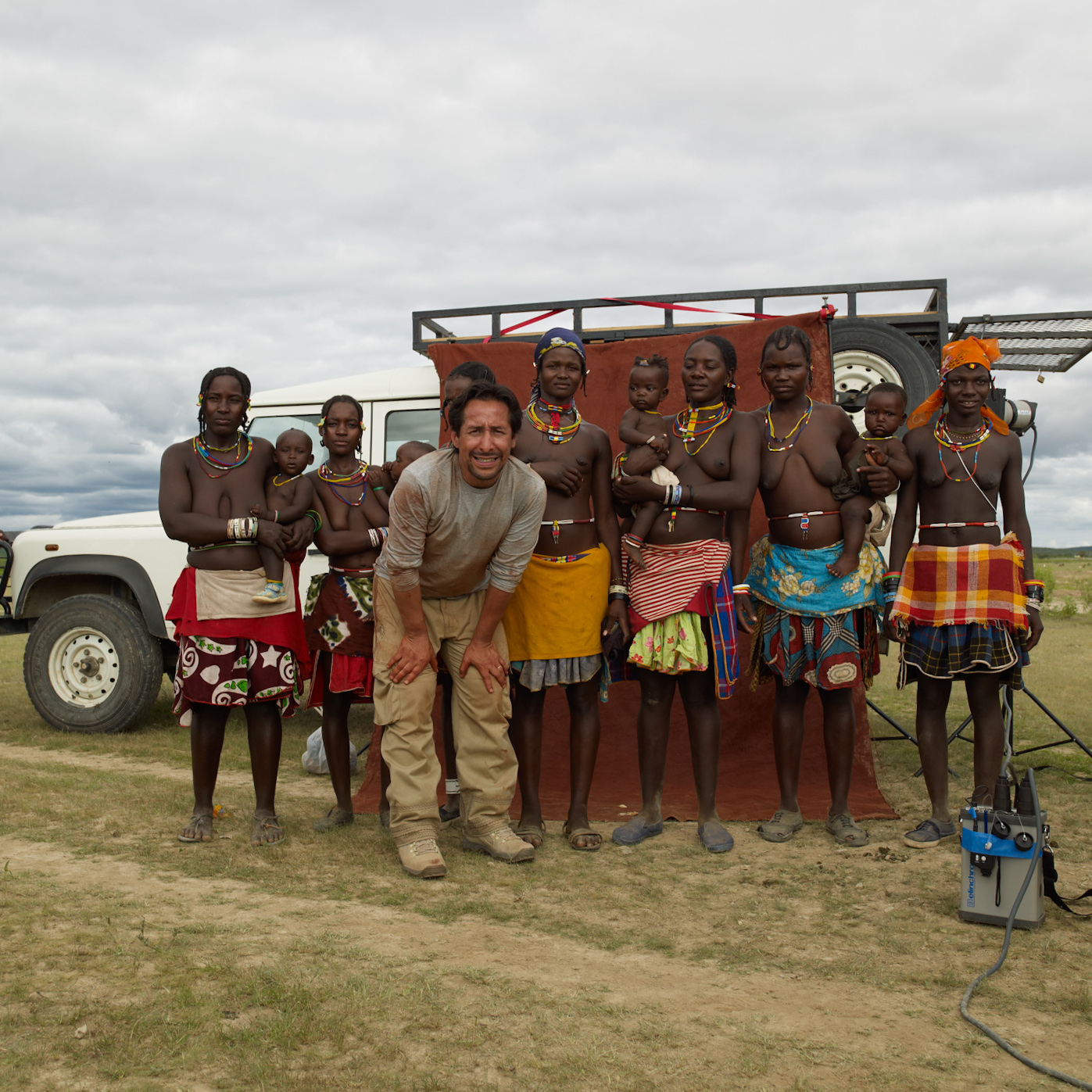 Jaime Ocampo-Rangel with the Himba of Namibia